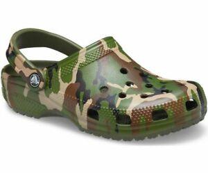 Crocs Classic Clog Printed Camo Original Versatile Comfortable Lightweight