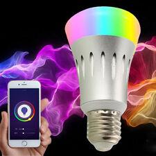 E27 7W Flash Music Light Bluetooth APP Control Audio Speaker LED RGB Smart Bulb