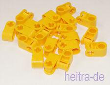 LEGO Technik - 20 connettori/90 gradi/foro achsloch GIALLO/6536 Merce Nuova