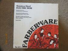 "Farberware LARGE 14"" Electric WOK Stainless Steel No. 303A NEW NIB 5.5 quart"