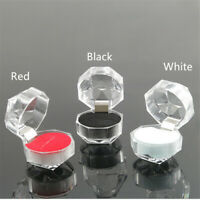 New Acrylic Transparent Earring Storage Jewelry Box Ring Organizer Display Case
