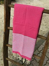 Fouta Tunisienne 100% Coton - Serviette de Plage - Serviette de Bain - 1m x 2m