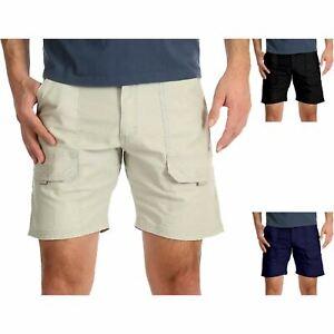 Mens Wrangler Cargo Stretch Elasticated Shorts Hiker Spandex Cotton Pant 30-48