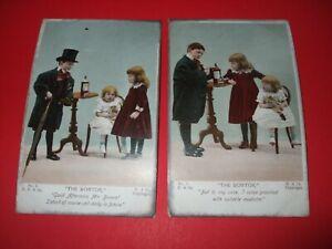 2 1907 COMIC postcards SAME SERIES THE DOCTOR children medical theme