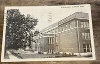 Vintage Postcard Superior Nebraska High School NE 1936