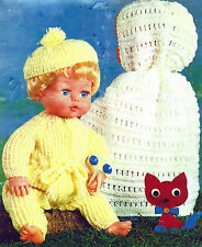 16 INCH DOLL TINY TEARS JUMP SUIT BERET CAPE KNITTING PATTERN BY EMAIL (164)