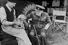 WW2 - Photo - Churchill, Montgomery et le chien Rommel à Creuilly le 7 août 1944