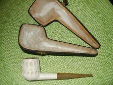 "Meerschaum Tobacco Pipe 6-1/2"" Long, 2"" Tall Bowl"