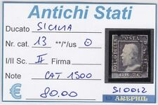ANTICHI STATI - SICILIA - SI0012 - NR. 13 USATO - CAT. 1500