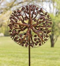 Tree of Life Metal Garden Wind Spinner Lawn Copper Ornament Kinetic Art Bird New