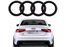 Matte Black Rear Trunk Emblem Genuine OEM For Select Audi Cars New Free Shipping