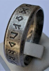 NORDIC RING VIKING NORSE RUNEN ODIN NORDISCH RETRO EDELSTAHL BAND RING