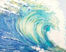 original acrylic painting,Big Wave. 8*10 inches, canvas panel