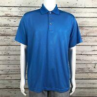 PGA Champions Tour Golf Polo Shirt LARGE Men's Blue Diamond Argyle Stripe