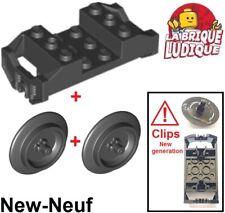 Lego 2x roue jante wheel Skateboard Trolley violet//dark purple 2496 NEUF