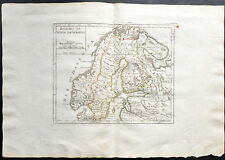 1807 - Carte ancienne suède et Norvège - antique map of Sweden and Norway