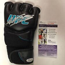 Autographed/Signed AMANDA NUNES UFC MMA Champion Black/Blue Glove JSA COA Auto