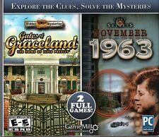 GATES OF GRACELAND HOME OF ELVIS PRESLEY Hidden Object 2 PACK PC Game DVD NEW