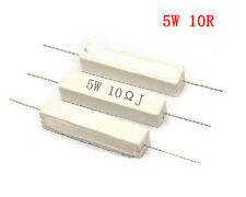 10X 5W Watt 10R 10OHM 5% Ceramic Cement Po wer Resistor Free Shipping  Cheap