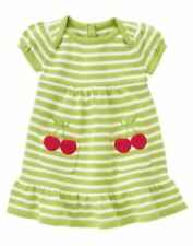 NWT GYMBOREE CHERRY CUTE GREEN STRIPE SWEATER DRESS 4T Free US Shipping