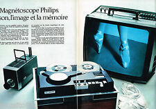 PUBLICITE ADVERTISING 065 1970  PHILIPS  magnétoscope à mémoire ( 2pages)