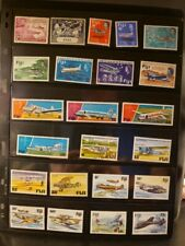 Fiji Aircraft & Aviation Stamps Lot of 26 - MNH - See Details for List