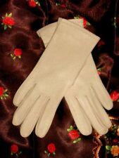 Sm VinTage Leather Gloves Ivory White original package Nos Van Raalte Usa