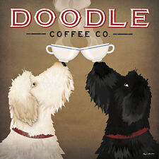 Doodle Coffee Double IV by Ryan Fowler Dog Print 12x12