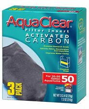 New listing Activated Carbon Filter Insert for Hagen AquaClear 50/200 (3 Per pack)
