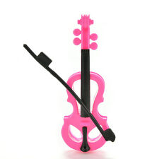 1 Pcs Creative Fashion Rose Black Violin for Barbies Dolls Kids Gifts N7A
