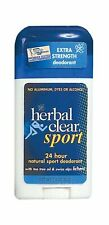Herbal Clear Sport 24 Hour Natural Sport No Aluminum No Dyes No Alcohol 1 Pack