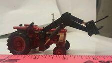 1/64 ERTL farm toy custom ih farmall 706 wf tractor w/black loader bale spears