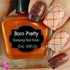 15ml Born Pretty Nail Art Stamping Polish Shimmer Red Stamp Plate Varnish 29#