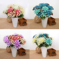 Artificial 6 Flower Heads Silk Dahlia Chrysanthemum Party Home Bouquet Decor DIY