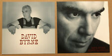 Talking Heads David Byrne 2004 Set of 2 Double Sided Promo Poster Flat of Grown