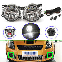 LED Fog Light Lamps Wiring Kits For Mitsubishi Challenger Outlander Pajero Sport