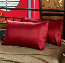 30mm Wine Red Pillowcase, Handmade in 100% 6A Pure Mulberry Silk, for King Size