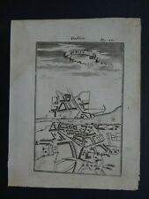 1719 Manesson MALLET Atlas map View  DUBLIN - IRELAND
