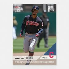 2018 TOPPS NOW #MOW-14 FRANCISCO LINDOR 1ST SS 75 RUNS 50 XBH BEFORE ALL-STAR GM