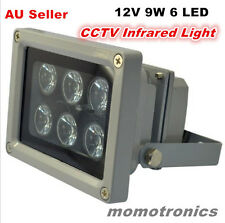 12V 6 LED IR illuminator infrared lamp Light Outdoor Waterproof for CCTV Camera