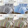 Maine Stripe Duvet Quilt Cover Set, Single Double King Size Bed Linen,