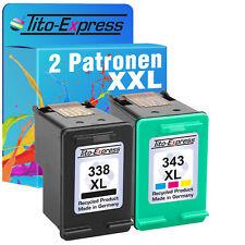 HP 338 & 343 XL Patrone für Photosmart 3180 C3180 HP338