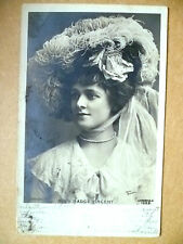 1904 Used Antique Real Photo Postcards-Actresses MISS MADGE VINCENT,N1225+ Stamp