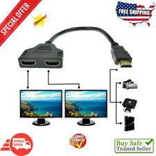 Cable Adaptador De Dos Vias Para Hdtv W Hdmi Macho a 2 Hembra Splitter Video ...