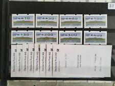 ATM Deutschland, Michel 2.2.1, TS1 xx , ABAS Dortmund mit 8 Einzel AQ a.d.Z.