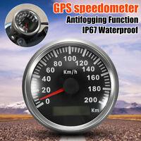 Etanche 200KM/H Voiture Moto GPS Compteur Vitesse Digital Tachymètre Indicateur