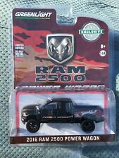 Greenlight Hobby Exclusive 2016 Dodge Ram 2500 Power Wagon.   black