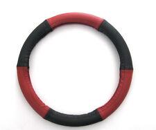 Lenkrad Bezug echtes Leder rot-schwarz für Lenkräder von 37-39 cm Durchmesser