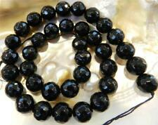 """Beautiful Faceted 6mm Black Agate Onyx Round Loose Beads Gemstone 15"""""""