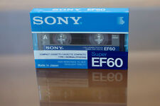SONY Super EF-60. Audio Cassette Tape. Made in Japan. NEW. 1990